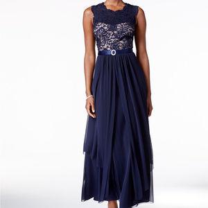 R&M Richards Navy Blue Dress
